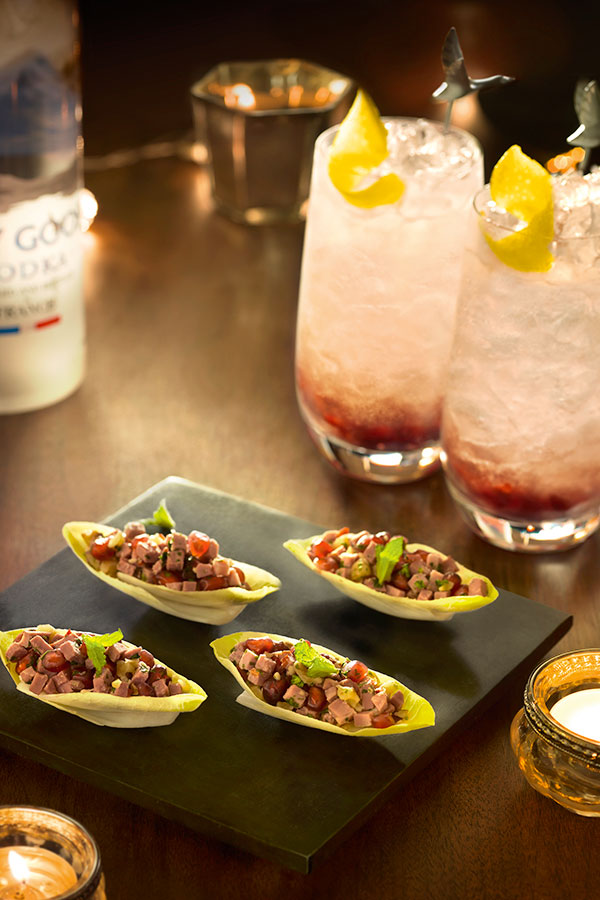 Up your canap game with these duck and chicory bites from for Smoked duck canape